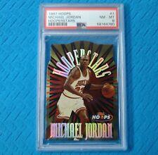 1997 Hoops Hooperstars 1 Michael Jordan PSA 8 Nr-Mint Low Pop Die Cut