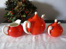 Kaffeekern Teekern 3tlg. orange-creme Keramik 20er Jahre