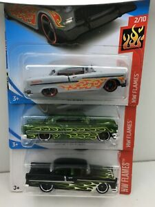 Hot Wheels * Lot of 3 * 1953 & 1955 Chevrolet ***WOW ****1:64
