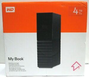WD My Book 4TB USB 3.0 External Desktop Hard Drive, Black #WDBBGB0040HBK-NESN