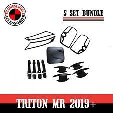 Head Tail Light Cover For Mitsubishi Triton MR 2019+ Matte Black Gas Tank cover