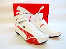 Puma Testastretta II - Size 6 US - White w/ Red Motorcycle Shoes - CLOSEOUT