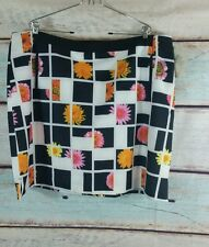 EP PRO White Black Yellow Pink Floral Golf  Skort  Size 22 Fancy That
