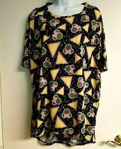 LulaRoe Irma Tunic Shirt Black & Yellow Minnie Mouse DISNEY Size S NWT