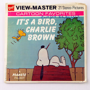 Vintage View-Master Reel Set Packet B556 ITS A BIRD, CHARLIE BROWN (1973)