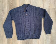 Janie and Jack Boys Navy Cable Knit Sweater Size 7