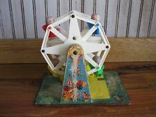 Vintage Fisher Price Ferris Wheel - 1966 - w 4 Wood Little People