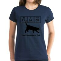 CafePress Cat Elements Women'S Dark T Shirt Womens T-Shirt (836386291)