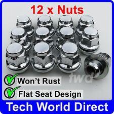 ALLOY WHEEL NUTS - TOYOTA YARIS X12 CHROME LUG BOLT STUD SCREW TOP QUALITY [A30]