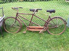Vintage 1940's OR 30's Schwinn Tandem Bicycle > Fresh > Needs To Be Restored