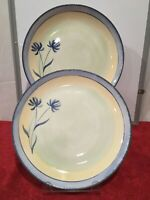 """Pier 1 TRANQUILITY 2 Dinner Plates 11 1/4"""" Earthenware England"""