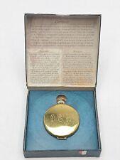 New ListingVintage A la Maison Brass Pocket Compass In Box