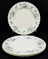 "Vintage Myott Fine Staffordshire Ware Forget Me Not 10"" Dinner Plates Set Of 3"