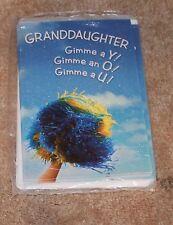 Cheerleader Granddaughter GRADUATION CARDS (pack of 6; American Greetings) New
