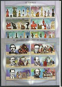 2795/Mosambik 2000 1589-1600 ** Schach Schachfigur Schachspieler