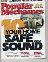 Popular Mechanics Magazine September 2002 Make Your Home Safe - Hydrogen VS Gas