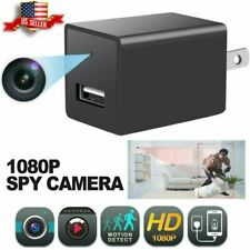 Mini Charger Plug Spy Camera 1080P Full HD Camcorder Hidden DVR IP Security Cam