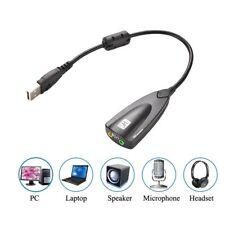 USB To 3.5mm Mic/Kopfhöreranschluss Stereo Headset Audio Adapter 7.1 Soundkarte