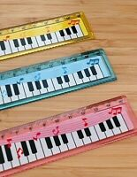 Cute Piano Look Ruler school Kids stationary Loot Party bag Filler wave