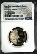 2019 S REVERSE PROOF AMERICAN INNOVATION $1 NGC PF70  Early Releases Delaware