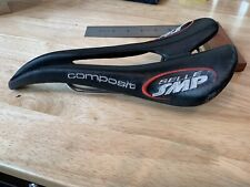 Selle SMP Composit Leather Saddle Made in Italy Inox Tube Size L1