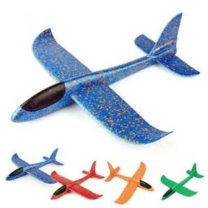 Hand Launch Throwing Glider Aircraft Foam Airplane Plane Model Outdoor Kids Boy