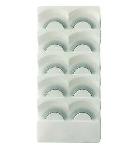 5 Pairs Training False Eyelashes 8mm - Self Adhesive Practice eyelash strips