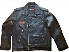 Brando Jacket Harley-Davidson Patches Biker Eagle Leather Harley Patches Jacket