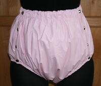 PVC Inkontinenz Knöpfer-Windelhose Gummihose rosa