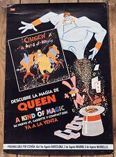 QUEEN - A KIND OF MAGIC - SPANISH PROMO POSTER + TOUR DATES! (lp vinyl spain cd)