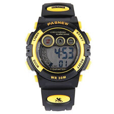 Wasserdicht Quarzuhr Sport LED Digital Damen Herren Kinder Armbanduhr Sport Uhr