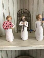 Lot of 3 Willow Tree Figurines.Abundance, Friendship and Lavander Grace.