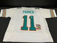 MIAMI DOLPHINS DEVANTE PARKER SIGNED CUSTOM THROWBACK JERSEY JSA WITNESS COA