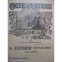 CABALLERO Rosendo Esther Piano partition sheet music score