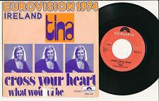 """EUROVISION 1974 45 TOURS 7"""" BELGIUM TINA CROSS YOUR HEART"""