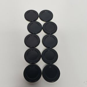 Set of 10 Othello Game Pieces Replacement Black and White Discs Chips Tokens