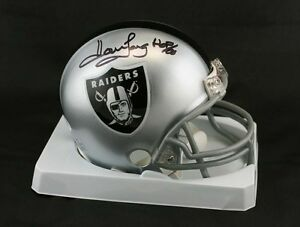 Howie Long SIGNED Oakland LA Raiders Mini Helmet + HOF 00 PSA/DNA AUTOGRAPHED
