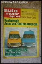 AMS Auto Motor Sport 4/70 Fiat 128 124 Ford Escort Twin Cam Ford Comuta