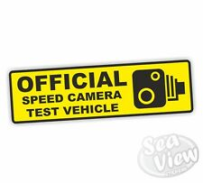 Official Speedcamera Test Vehicle Car Van Stickers Decal Funny Sticker Police
