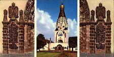 DDR Breitbild-AK Sonderformat Messestadt LEIPZIG Russische Gedächniskirche gebr.