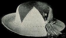 Vintage Crochet PATTERN to make Womens Sun Hat Sports Wide Brim 1917 SunHat