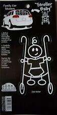 NEW 1 pc STROLLER BABY  Family Child  FAMILYSTICKERS.COM Sticker Window Car Auto