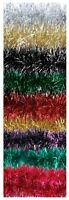 2M Quality Christmas Tinsel Garland Christmas Tree Decoration 9 Colourways