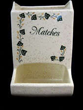 Match Holder Safe Wall Pocket Ivy Design Mid Century Country