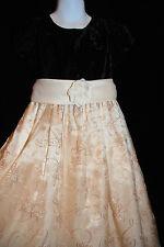 Cinderella Girl's Size 6 Easter Dress Gold Illusion & Velvet Pageant Wedding