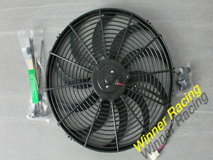"""24V 16"""" 160W  2700CFM Slim Radiator Cooling Thermo Electric Fan&Mounting kit"""