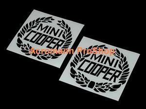 "2x4.5""11.4cm Mini Cooper Laurel Decal Sticker classic works austin morris stripe"