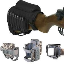 Adjustable Tactical Buttstock Rifle Cheek Rest Pouch Bullet Holder Bag Ammo Case