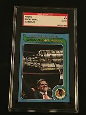 ROCKY WIRTZ SIGNED AUTOGRAPHED CUSTOM MADE CARD BLACKHAWKS OWNER SGC AUTHENTIC