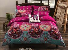 Queen Size Bohemian Style Duvet Cover Bedding Set Girls Bedroom Multi Color